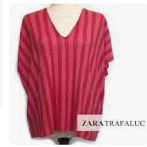 Zara Trafaluc batwing striped top